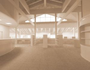 Entering the new library