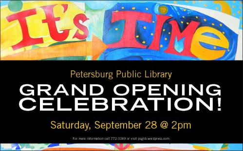New library grand opening celebration this Saturday!